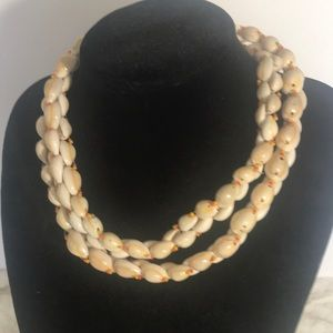 """""""VINTAGE COWRIE""""  Seashell Necklace."""